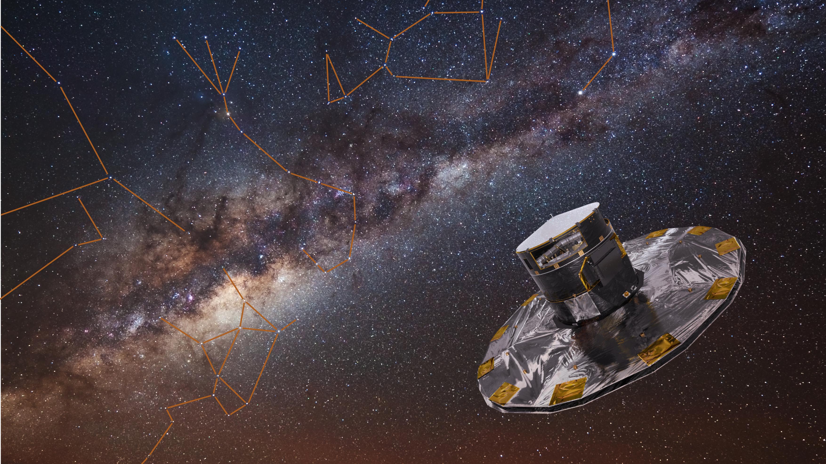 Die Raumsonde Gaia vermisst den Sternenhimmel mit höchster Präzision, ©ESA