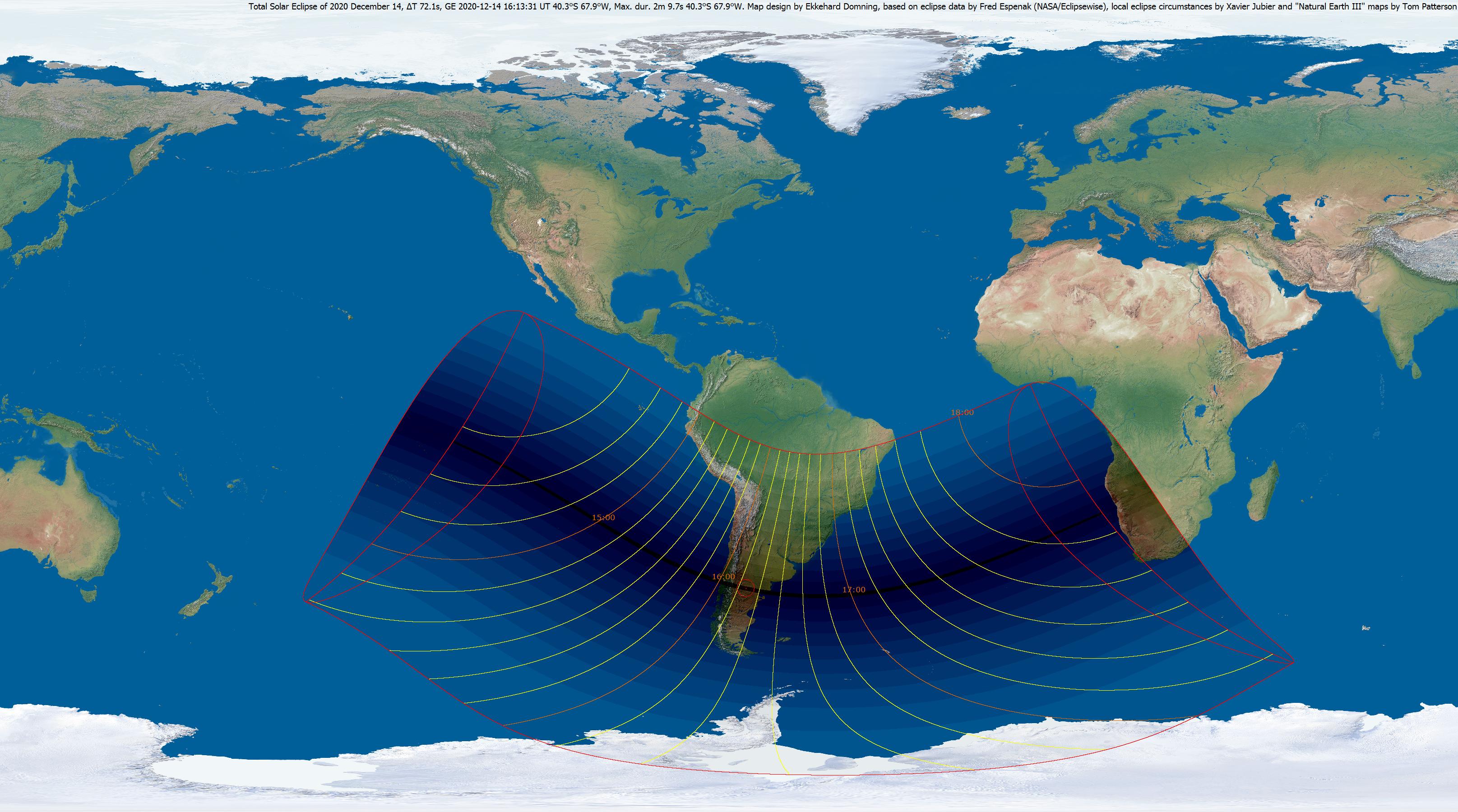 Totale Sonnenfinsternis 14. Dezember 2020